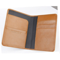 Merchant hot sale Travel Passport Cash Holder Organizer Wallet Purse Bag  brown sheep leather passport holder passport cover