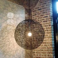 Amercian Style Living Room Lamp Light Ball Lighting Indoor Retro Light Pendant Lights Free Shipping
