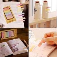 2PCS 2015 Lovely Kawaii Sticker Index Tab Mini Memo Sticky Notes Post It Memo Pads