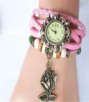 Fashion bracelet watch rose vintage sports child watch women's rhinestone Dress Watches