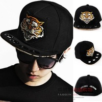 fashion preppy style tiger baseball cap embroidery street star hiphop caps black cool tiger sun caps