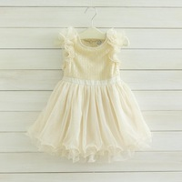 High quality girl Sequins falbala sleeveless princess dress kid tulle tutu party dress fashion branded childrne costume 2132