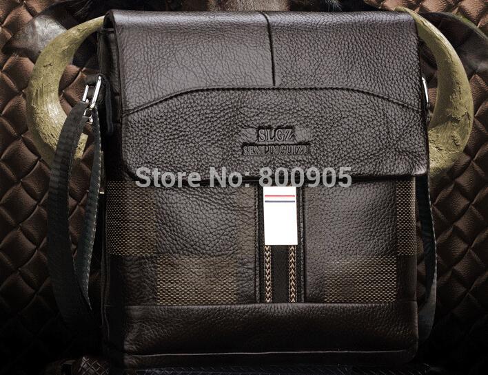 retail new men messenger bags man shoulder business hand bag , 100% genuine Leather Satchel handbag fashional handbags(China (Mainland))