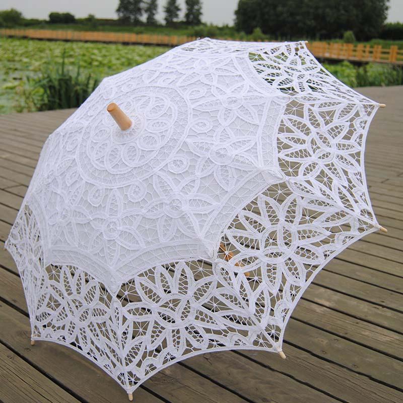 Branco nupcial do laço do Vintage elegante guarda-chuva guarda sol de Casamento 2015 venda quente rendas guarda-sóis de noiva Sombrinha Casamento XNS007(China (Mainland))