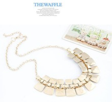 2014 Trendy Necklaces Pendants Link Chain Collar Long Plated Enamel Statement Bling Fashion Necklace Women Jewelry