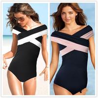 Black Bandage  Sexy One Piece Swimwear Women One piece Swimsuit Bathing Suit Swimsuits  Women 2015