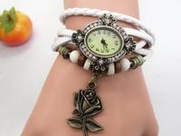 2015 Fashion casual bracelet watch oval flower sports watches women's rhinestone Dress Watches