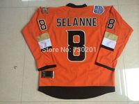 Wholesale Anaheim Ducks Jerseys 8 Teemu Selanne HockeyJersey Stitched and Sewn