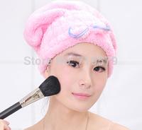 Free shipping Cartoon Women Girl bathroom water proof shower hat cute bath cap KT16
