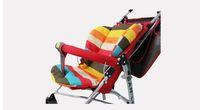 baby bebe stroller mat Rainbow striped pad pram BB car seat cushion general cotton mat stroller cushion accessories waterproof