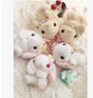 3Piece/Lot 2015 Japanese Style Women Fashion Lolita Cute Cartoon Plush Bigger Ear Rabbit Coin Purses 2206