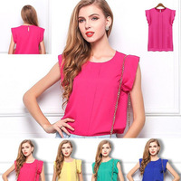 t shirt Women 2015 New Casual short-sleeve O-neck Solid OL woman Loose Blusas Plus Size cropped Clothing Cheap blusas femininas