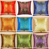 man made silk sofa decor cushion covers high quality invisible zipper printing pillow cover 45*45cmzara home