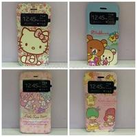Cute Cartoon Rilakkuma Bear / little twin/Hello Kitty/Leather Wallet Case For Samsung Galaxy A5 A5000 A5009 Cover Free Shipping