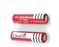 10 Pcs/lot 18650 battery Ultrafire 3.7V 4000mAh Li-ion Rechargeable Battery for T6 Flashlight batteries