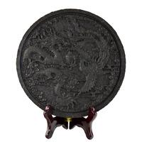Tea Crafts Dragon & Phoenix Design Da Hong Pao Tea Decoration, natural crafts chinese home decoration