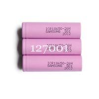 100 Pcs Original Samsung 18650 battery ICR18650-26F 2600mAh Li-ion 3.7v Rechargeable Battery