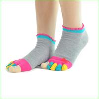 SK08FW 3pairs/lot  New Women's Socks Elite Cotton Meias Sports Five Finger Socks Toe Socks Free Shipping