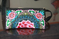 National Wind purse embroidered purse sunflower  Embroidery zero wallet  15613