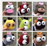 10Piece/Lot 2015 Japanese Style Women Fashion Cute Cartoon Bear Eyes Key Rings Wholesale 2190