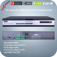 Anran 1080P AR-NVR6016F-PL 16CH NVR HD Digital Network Video Recorder HDMI VGA 720P/1080P Support ONVIF Output