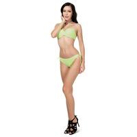 New 2015 Halter Neck Ruching Sexy Bikini Women Bathing Suits Push Up Modest Swimwear