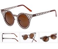 2015 New Fashion Sunglasses Vintage metal punk Eyeglasses summer sunglasses famous brand Women brand designer Sunglasses
