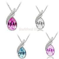 Wholesale Fashion Lady Jewelry Crystal Rotation Style Necklace Pendant crystal necklace SV14 5343