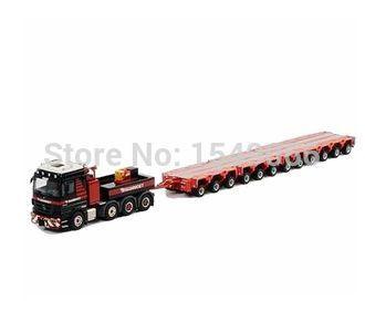 WSI Mammoet Benz 4-axis head Schduerle12 axle trailer combination pallet truck engineering model(China (Mainland))