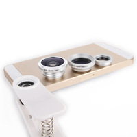 Mobile Phone Fisheye lens + Macro + Wide Angle 3 In 1 Universal Clip len for iphone 4 5 5s 6 plus Nokia Htc Samsung ,40pcs/lot