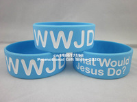 Hot-selling! Wwjd wristband, What Would Jesus Do silicon bracelet ,promotion gift, Jesus silicon band,50pcs/lot,Free Shipping