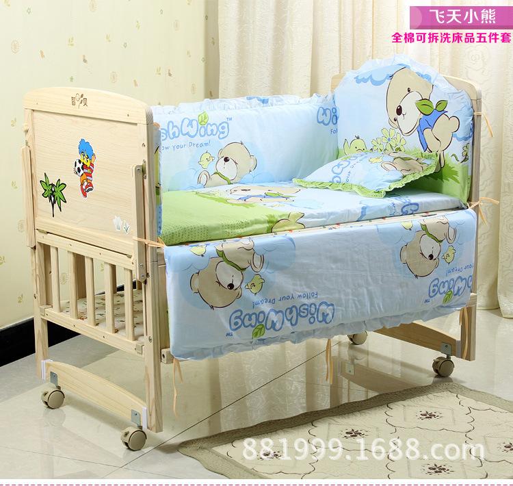 Baby Boy Bed Angel 5pcs Baby Boy Crib