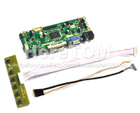 HDMI+VGA+DVI LCD Controller Board For LED LP156WH2 Screen + 1c 6Bit 40 Pins LVDS cable + Mini Keyvboard