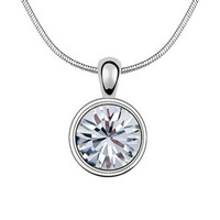 2015 Austria Crystal Necklace Romantic round pendant necklace