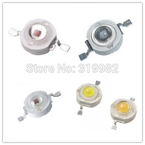 50pcs/lot LED Grow Light Diode LED Beads 3W Grow Leds Deep Red Blue High Power Chip Growing Lamp Bead 440nm 445nm 450nm 660nm(China (Mainland))