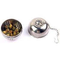 Stainless Steel Ball Tea Strainer Infuser Mesh Filter Tea Leaf Spice Hook B0955 PBP