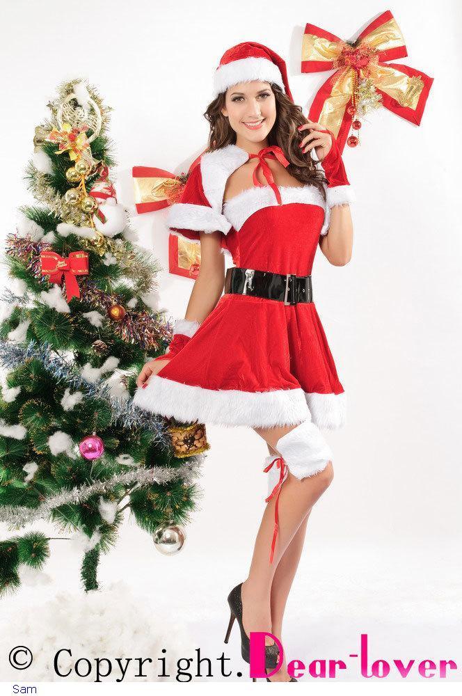 Christmas Costume Christmas Dress Wholesale & Retail,Velvet Santa Costume LC7152 new cospaly fantasia girl costume(China (Mainland))