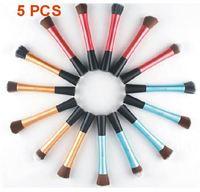 5 pcs a set Waistline brushes flat foundation foundation makeup flat shaped brush long tubes Kit Blush Brush YCZ045