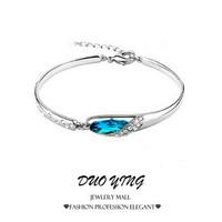 2015 Rock Long Jewelry European  Trendy Elegant Help My Love Corrente Collar Crystal Bracelets Bangles For Women