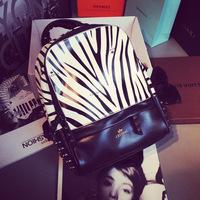MIKKOSHOP quality bag white zebra airport backpack AD2332