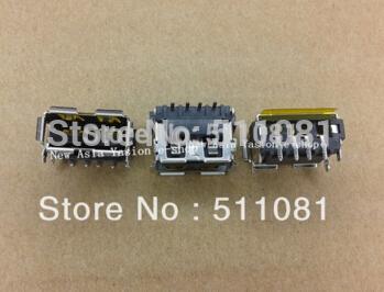 10pcs USB Port Jack Copper Down,Mini USB Jack Laptop Connector for G530 G550 B550 N500 +07157 LS-5083P(China (Mainland))