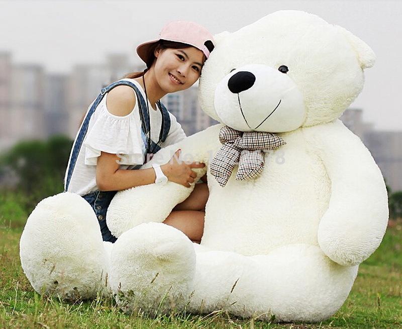 Teddy bear 2015 Hot Sale New giant teddy bear 140CM 47'' BIG CUTE Brown PLUSH TEDDY BEAR HUGE SOFT 100% PP COTTON TOY bear(China (Mainland))