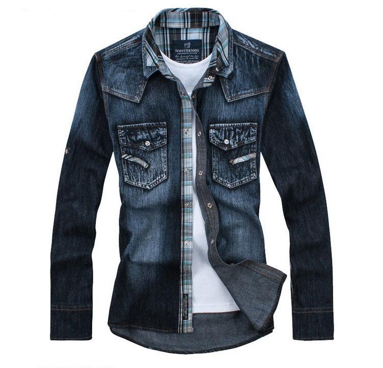 Chemises Pour Hommes Hommes Jeans Chemises Mode