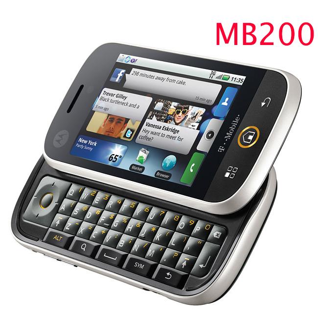 MB200 Original unlocked 3 1 inch motorola mb200 3G WIFI GPS Slide Mobile phones Free shipping