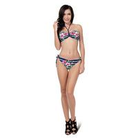 Floral Swimwear Push Up Halter Neck Sexy Beach Wear Bikini Womens Bathing Suit 2015 Swimsuits