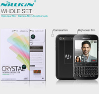 nillkin Super Clear protector screen for blackberry classic Q20 Anti-fingerprint Protective Film whole set with camera sticker