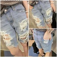 Shorts jeans womens shorts denim bermudas jeans femininas 2014  women ripped shorts short destroyed