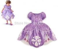 2015 Princess sofia dress 2 colors costume vestido disfraz princesa sofia princesinha sofia the best roupas infantil meninas