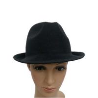 2015 hot sale men's black fedora hat