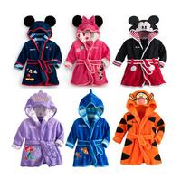 1 Pcs/lot 2104 NEW Christmas children robe pijamas kids Minnie/Mickey baby homewear boys girls Flannel pajamas children coat